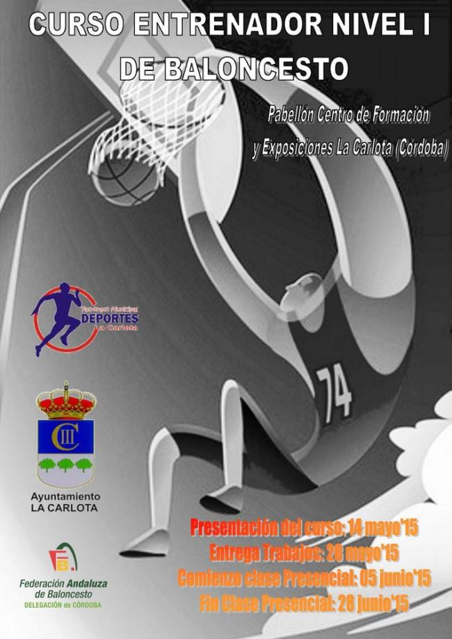 Cartel Curso I NIvel de Baloncesto.